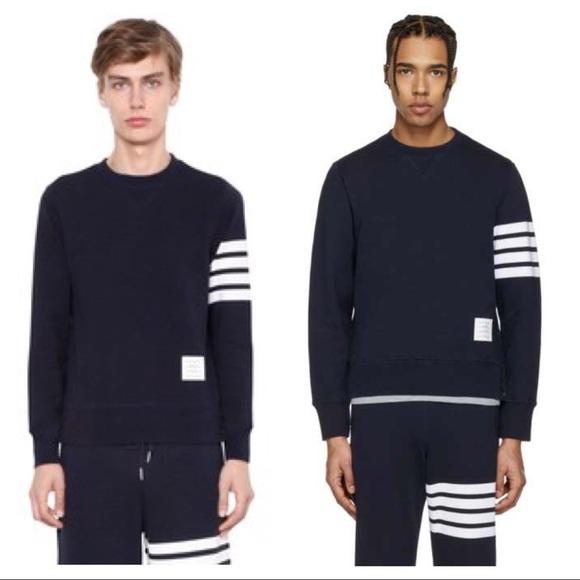 4eadda0ce07 Thom Browne black four bar crewneck sweatshirt. M_5a540e8e9cc7efa91f02a8ef
